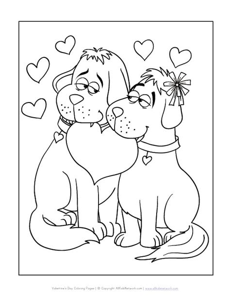 valentine dog coloring page free coloring pages of valentine dogs
