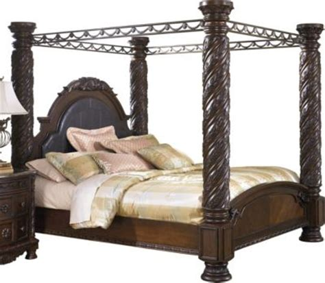 ashley canopy bed ashley north shore king canopy bed homemakers furniture