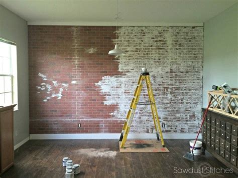 Faux Brick Kitchen Backsplash by How To Faux Brick Wall Sawdust 2 Stitches