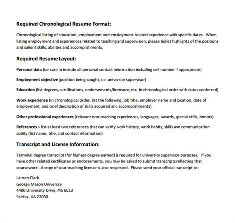 Supervisor Resume Format by 13 Sle Supervisor Resumes To Free Sle