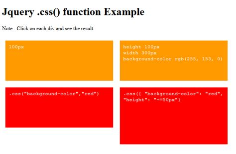 jquery css background color jquery css function exle