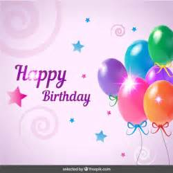 birthday card with balloons vector free