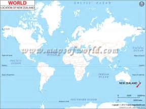 Where Is New Zealand On A World Map by Where Is New Zealand