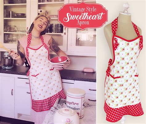 Apron Designs And Kitchen Apron Styles by Vintage Style Sweetheart Apron Sew4home