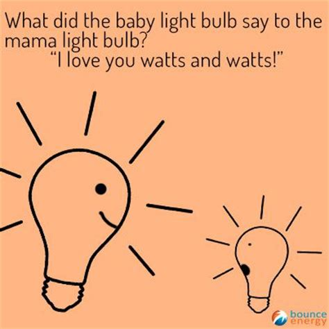 Light Bulb Puns by What Did The Baby Light Bulb Say To The Light Bulb