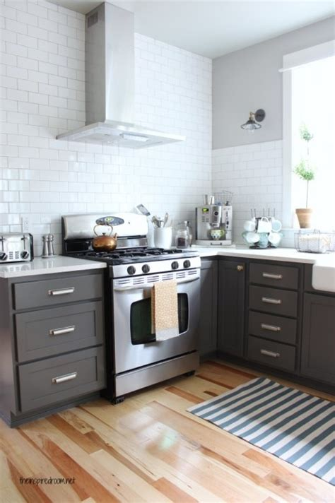 Charcoal Painted Kitchen Cabinets by Charcoal Painted Kitchen Cabinets For The Home