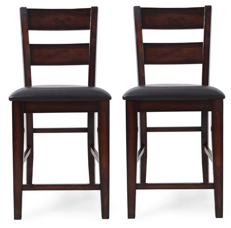crown counter height table in crown maldives counter height chair in brown set of 2 2760s 24 by dining rooms outlet