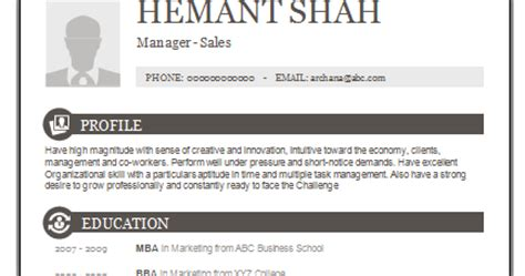 Post Mba Sales by 10000 Cv And Resume Sles With Free One