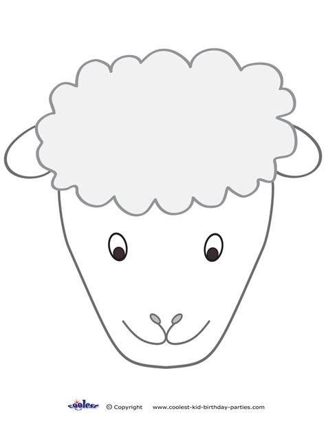 sheep face mask colouring pages page 3