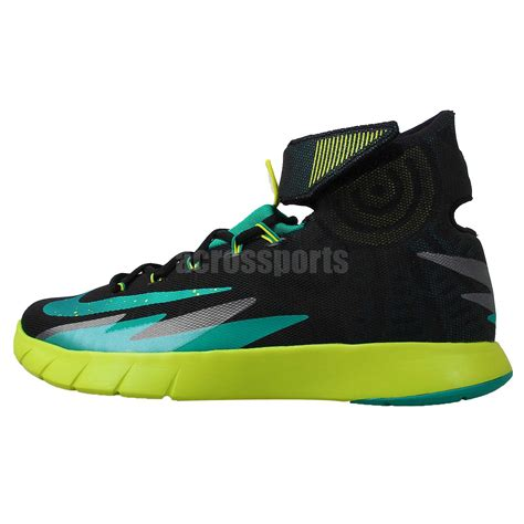 2014 new basketball shoes nike zoom hyperrev kyrie irving black green 2014 new mens