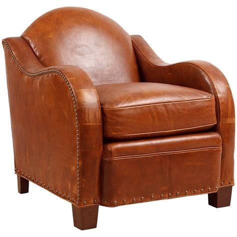 deco style club chairs vintage deco style leather club chair for sale at 1stdibs