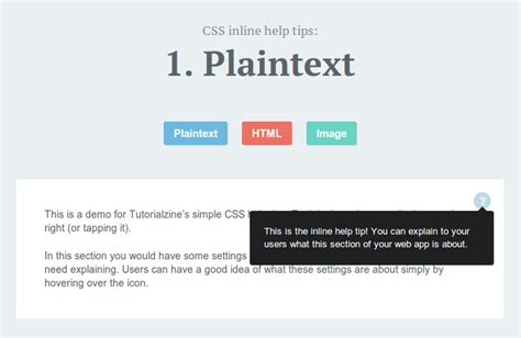 tutorial tooltip css create inline help tips for your site with a bit of css