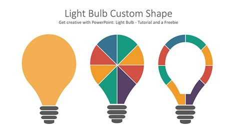 Get Creative With Powerpoint Light Bulb Graphicadi Free Powerpoint Shapes