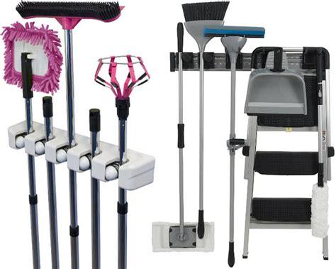 Magic Mop Hanging Holder Broom Rack Gantungan Sapu Pel Kemoceng image gallery mop holder