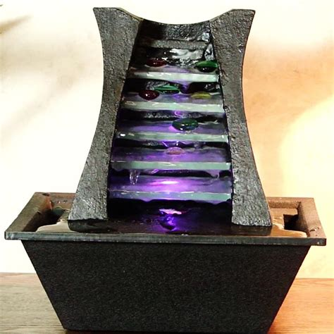tabletop fountain with light diy battery operated tabletop water fountain great home