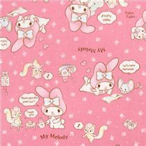 Pink My Melody Bunny Tea Plush Sanrio Oxford Fabric Iphone pink my melody bunny tea plush sanrio oxford laminate