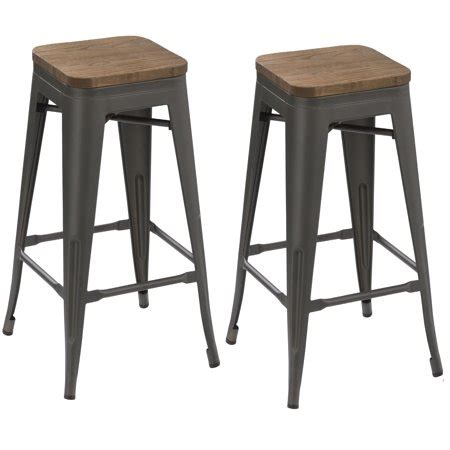Stackable Metal Bar Stools by Btexpert 174 24 Inch Industrial Antique Distressed Gunmetal
