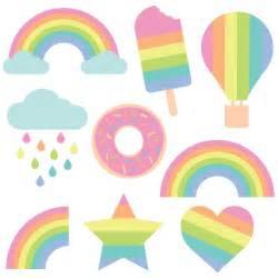 pastel rainbow cut files clip art freebie friday hey