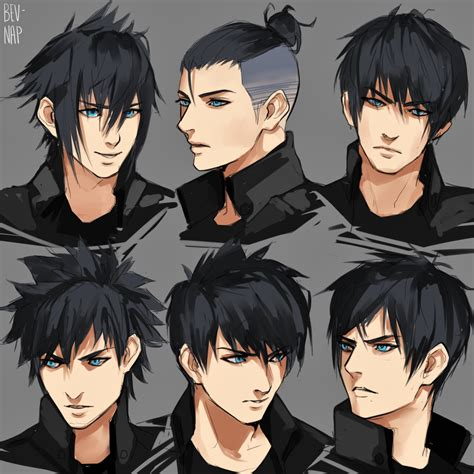 hairstyles for anime characters noct hairstyles by bev nap on deviantart final fantasy