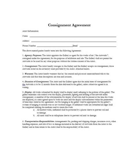 consignment form for cars 40 best consignment agreement templates amp forms ᐅ