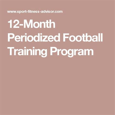 12 Month Mba Usa by 12 Month Periodized Football Program Workouts