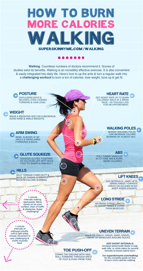 Is Walking For Detoxing From by 15 Tips Of Burning Calories With Walking Infographic
