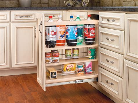 kitchen cabinet accessories rev a shelf 5 quot base organizer with adjustable shelves for
