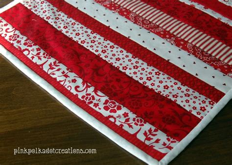 Quilt As You Go Patterns For Table Runner by Quilt As You Go Table Runner For Valentines Day And