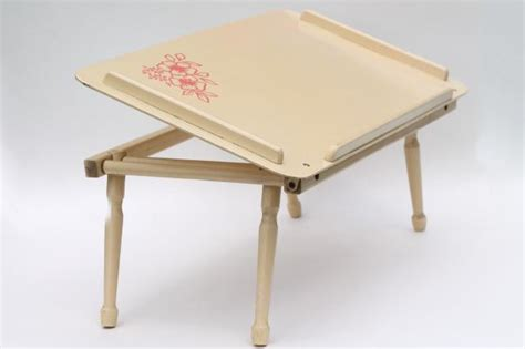 best lap desk for coloring vintage wood folding tray for bed or chair easel top lap