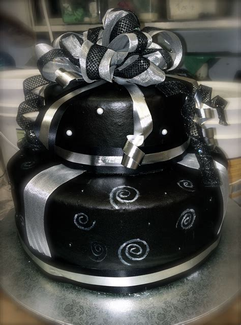 black  silver birthday cake annies cakes pinterest birthday cakes cake  food