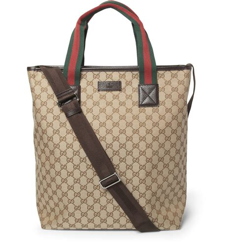 Tote Bag gucci men s leather trimmed canvas tote bag s bags