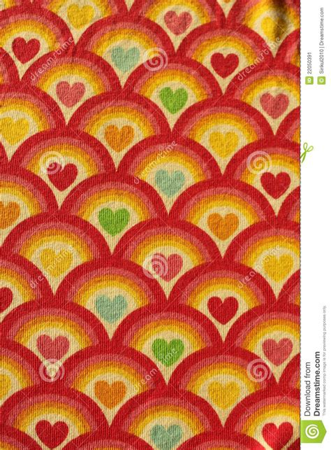 fabric red heart pattern stock image image 22050391