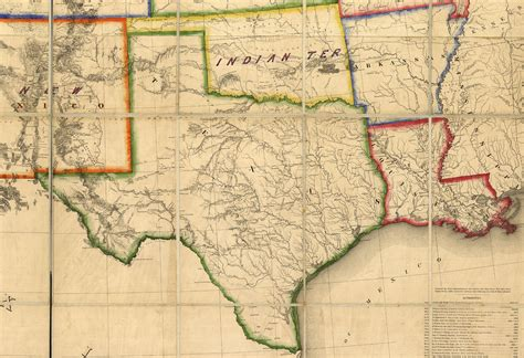 texas map 1800 maps of 19th century america