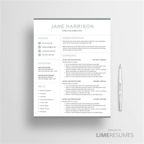 Resume Template 41 by Modern Resume Template Limeresumes