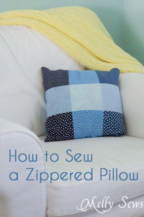 how to sew a pillow with a zipper melly sews