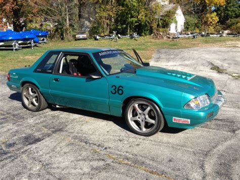 road mustang 1992 ford mustang road race car fox coup