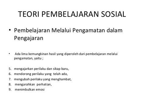 Teori Sosial 2 teori belajar sosial