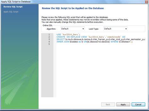 membuat database menggunakan mysql workbench tutorial mysql membuat view dengan mysql workbench