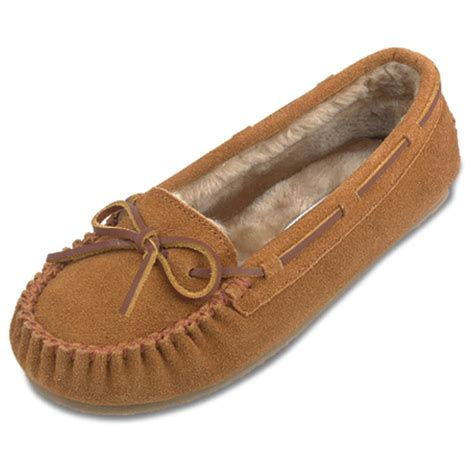 moccasins house shoes women s minnetonka moccasin 174 pile lined cally slippers 186446 slippers at