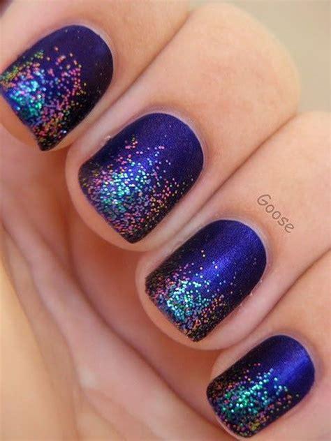 glittery purple nail art 70 stunning glitter nail designs 2017