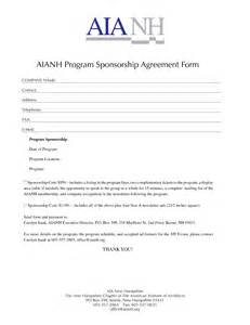 non profit sponsorship agreement template photo sponsorship forms template images