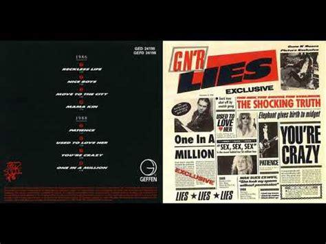 N R G g n r lies guns n roses album