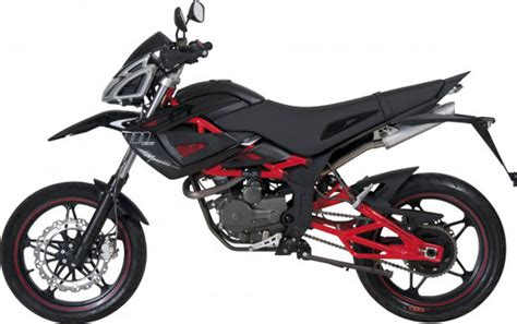 125 Motorrad Enduro Neu by Megelli Supermoto M125 125ccm 11ps Schwarz Rot Enduro Neu