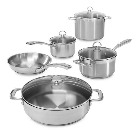 Set Supra7 Stainless chantal induction 21 steel 9 cookware set in