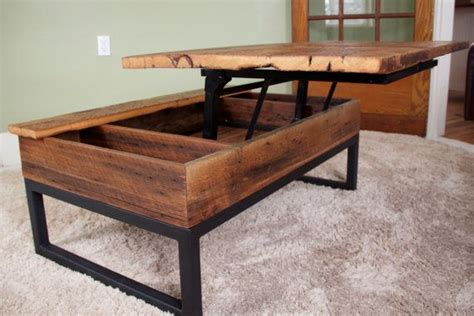 Barn Board Coffee Table Coffee Table Reclaimed Barn Board Lift Top Wood Metal