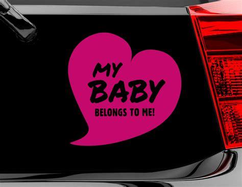 Autoaufkleber Heckscheibe Baby by Autoaufkleber My Baby
