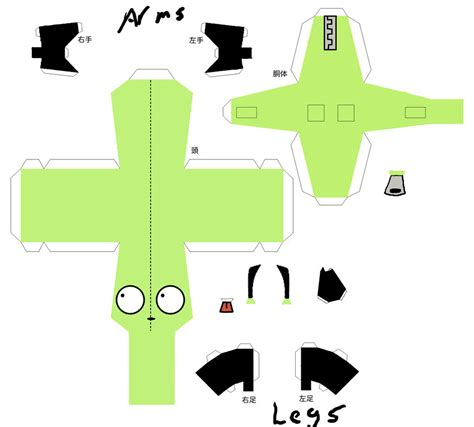 Gir Papercraft - gir papercraft by shintakukagami on deviantart