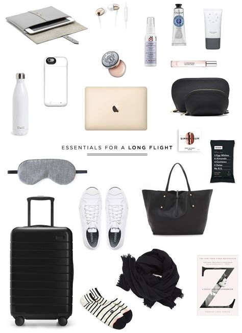 travel essentials for a flight travel essentials