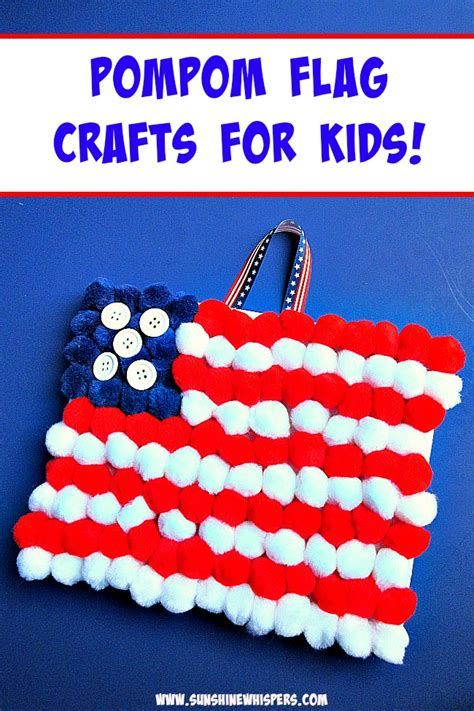 flag craft for easy pompom flag crafts for
