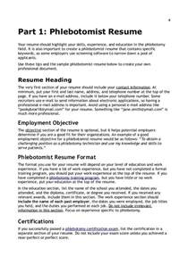 Phlebotomist Resume Objective by Resume Writing Tips For Phlebotomists